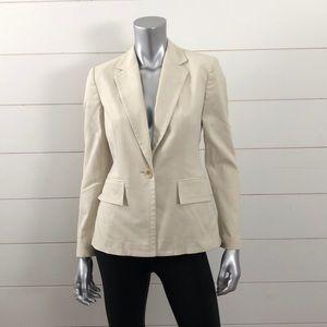 Banana Republic tan blazer jacket size 2